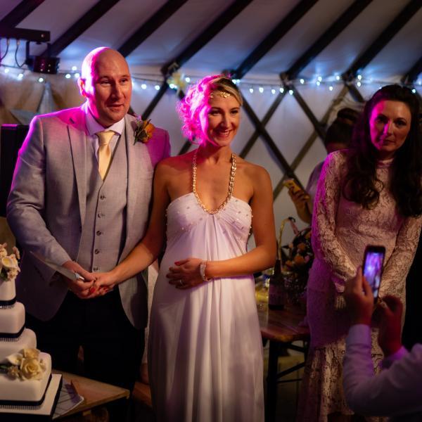 Wedding magician at Sarah and Rob's wedding at Salix Yurts, York 3