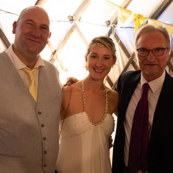 Wedding magician at Sarah and Rob's wedding at Salix Yurts, York 1